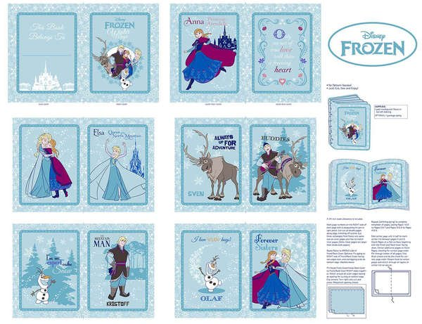 Disney Frozen Anna's Friends Soft Book Panel Frames