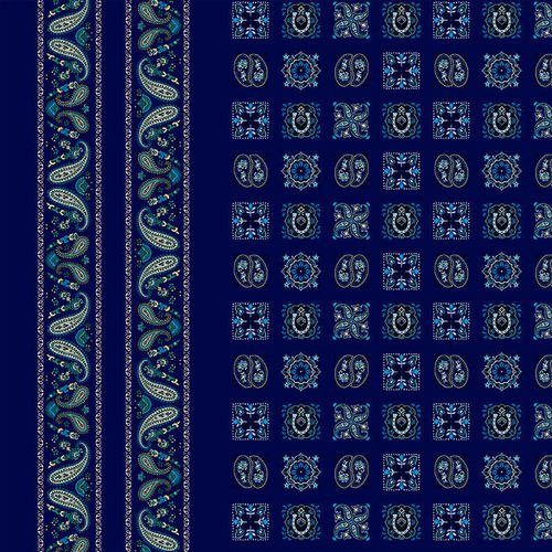 Wild Wild West 5351-77 Blue Bandana