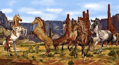 Wild Wild West 5357P-38 Scenic Horse Panel