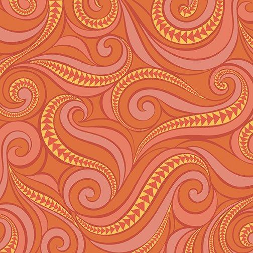 Free Motion Fantasy 5441-23 - Flying Geese Hot Orange