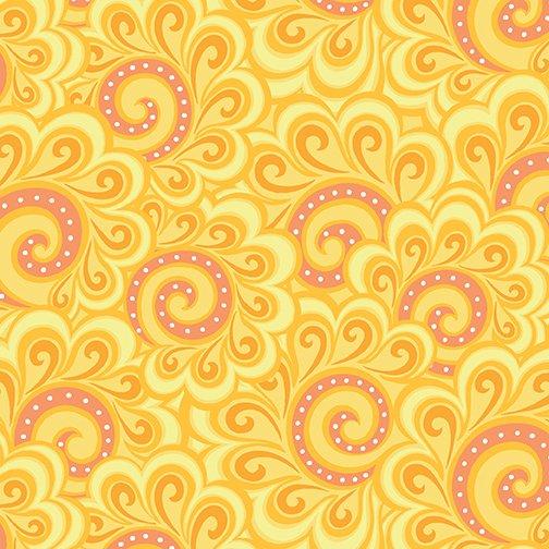 Free Motion Fantasy 5446-22 - Swirl Feather Orange