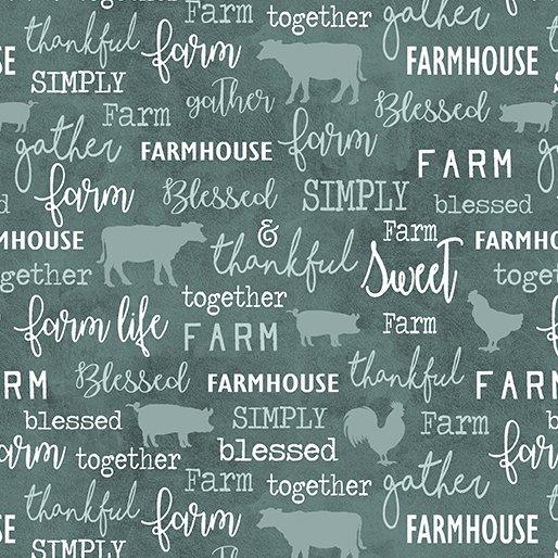Farm Sweet Farm - Chalkboard<br>6843-84 - Teal