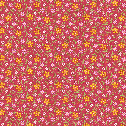 Little House on the Prairie Multi Flowers Red-A-7951-R