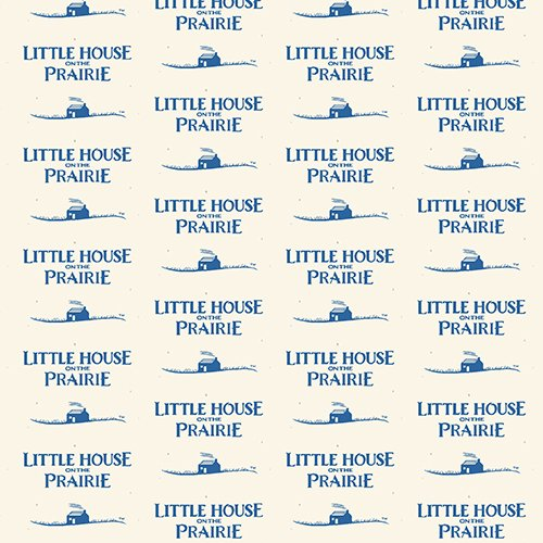 Little House on the Prairie Logo Blue -A-7982-B