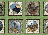 Nature's Glory Picture Patches 2/3 yd Panel - 1649-23834-G