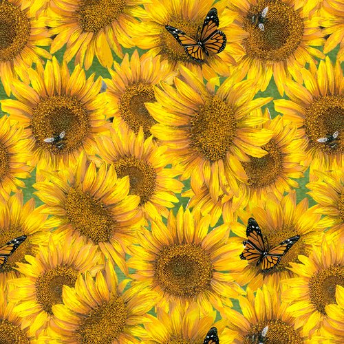 Country Paradise 9358-44<br> Sunflowers