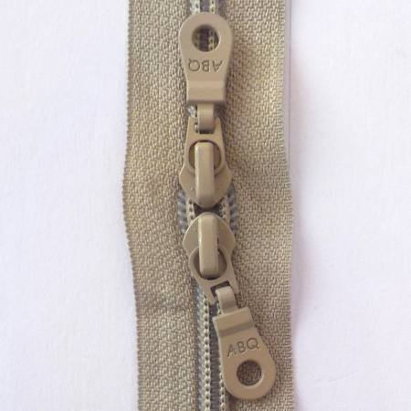 30in Zipper Simply Taupe Double Pull