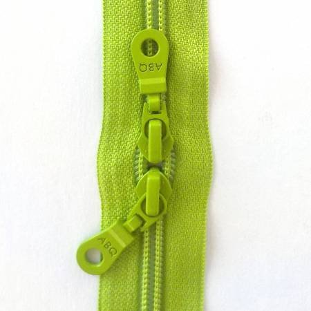 30in Zipper Lime Green Double Pull