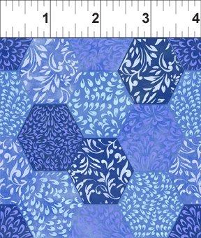 Ajisai - 5AJI-1 - Hexagons Dk. Blue