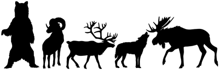 Alaska Wildlife Shape Pack