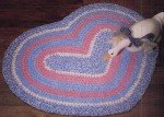 Aunt Philly's Toothbrush Rugs - Heart Rug