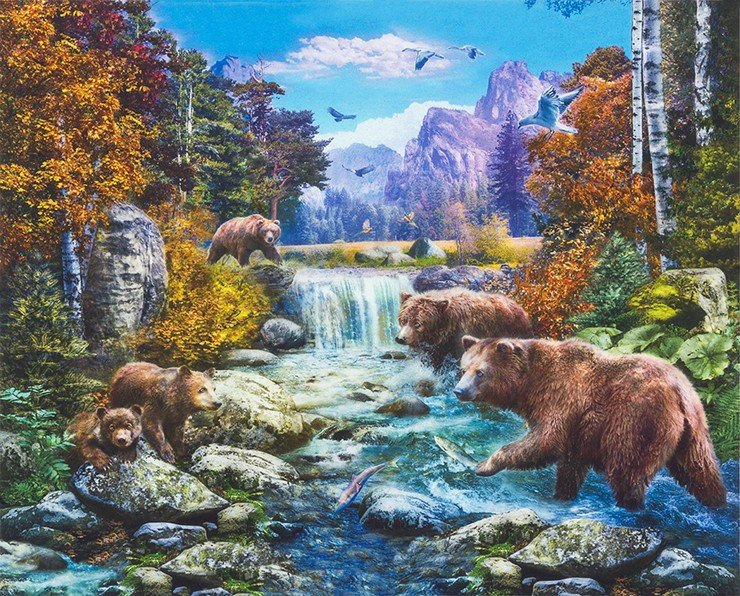 Picture This 36 Bear Panel<br>AYKD-17573-268 NATURE