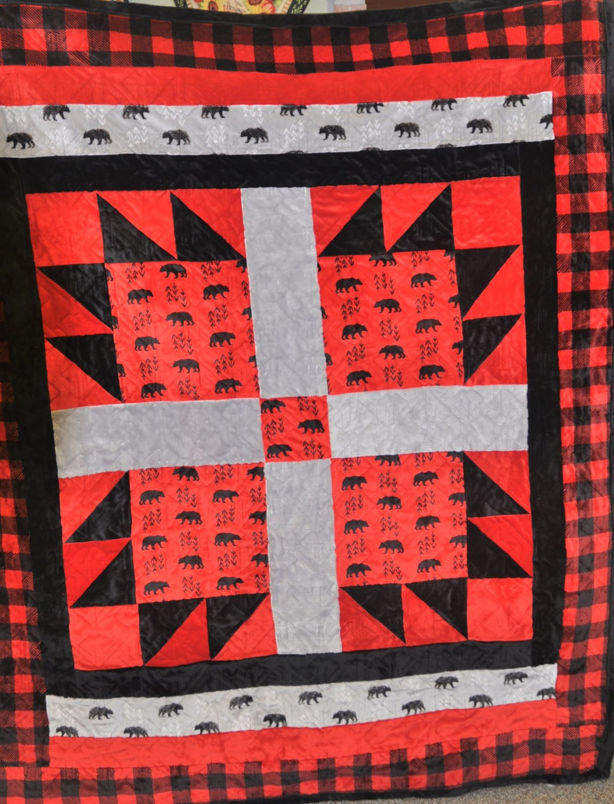 Bear Country Throw Pattern