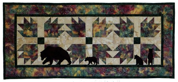 Bear Paws Quilt Pattern With Shapes 683615399204