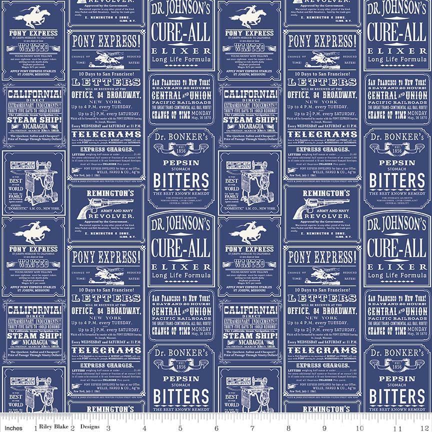 Cowboy Ads Blue C5632- Blue