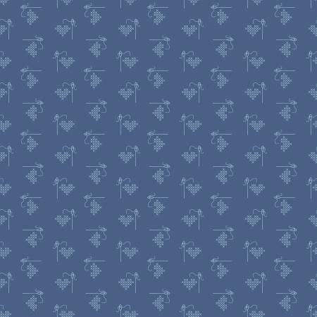 Bee Basics Heart Blue - C6401-Blue
