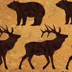 Elk Mountain Silhouettes 1697-65 Caramel
