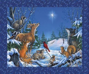 Woodland Winter Digital Panel Animals DP21146-44