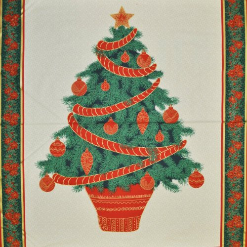 Home for the Holidays Christmas Tree Panel 1 yd - 2216M-12