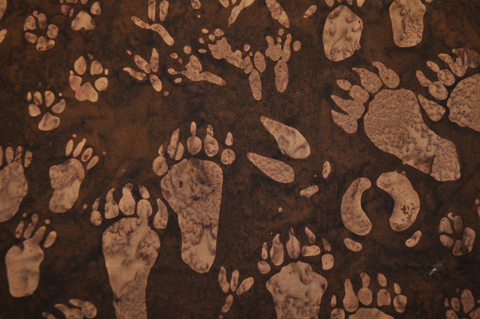 Bali Batik Paw Prints H2280-6 Brown