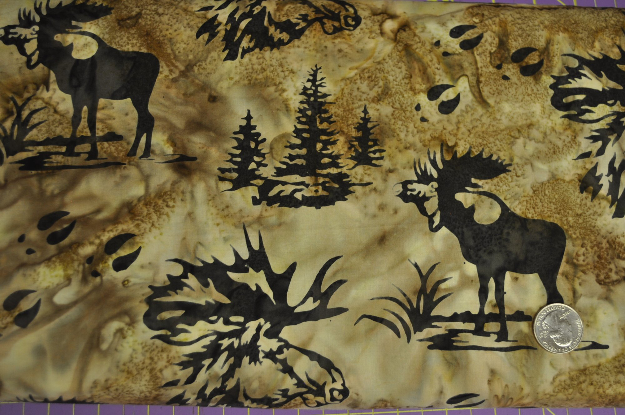 Bali Batik Moose and Prints Mocha N2911-171
