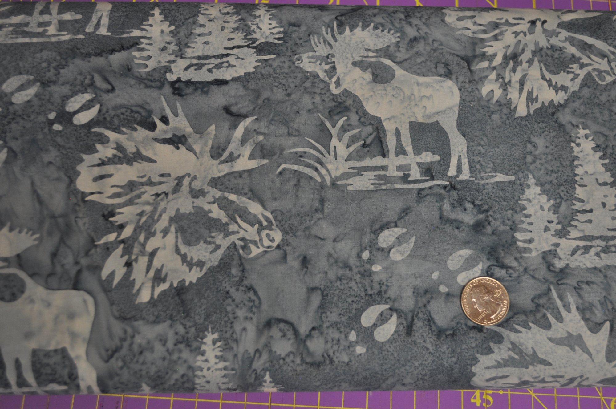 Bali Batik Moose and Prints Pewter N2911-76