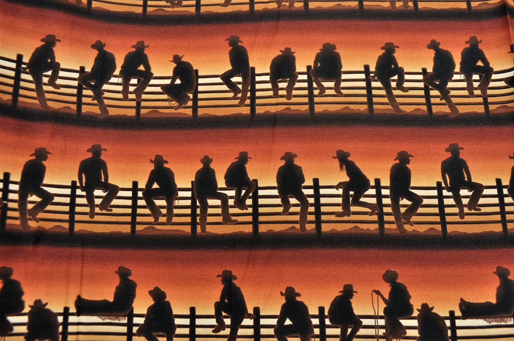 Best of the West Cowboys on Fence Sunset