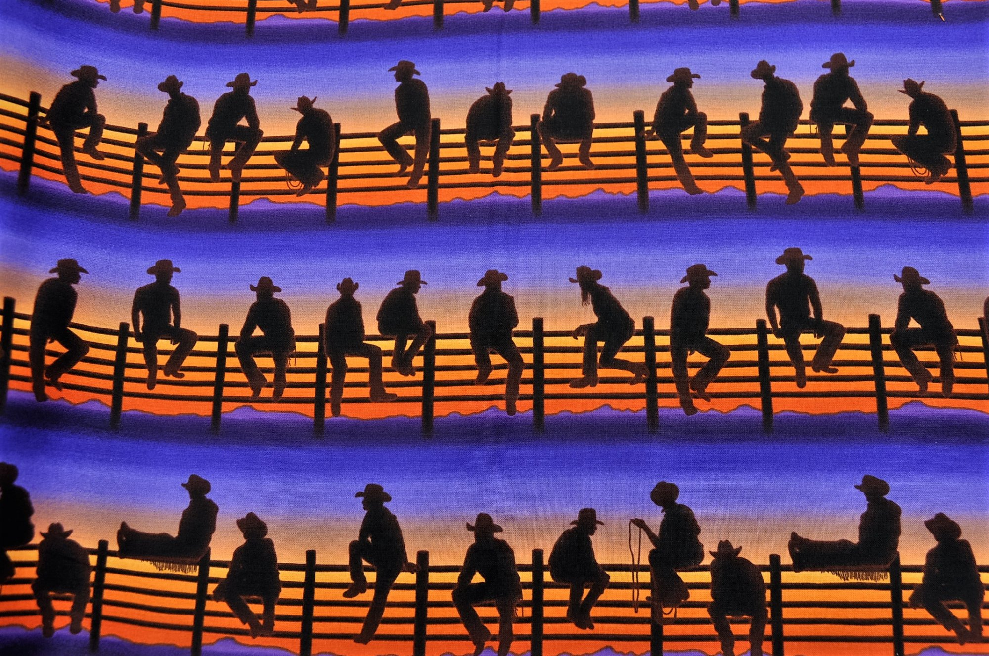 Best of the West Cowboys on Fence Sunrise