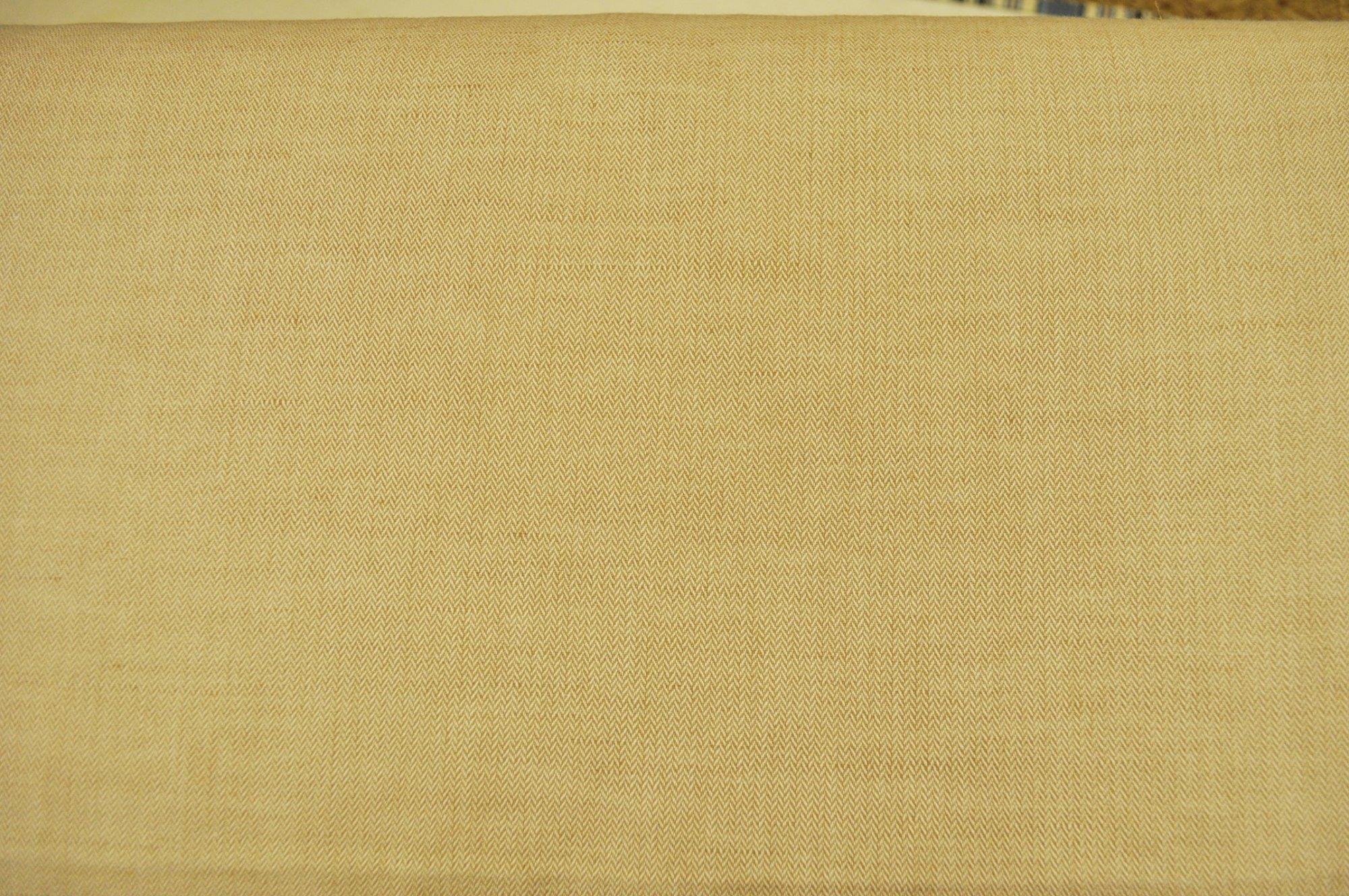 Bradford Herringbone Linen/Cotton Tan