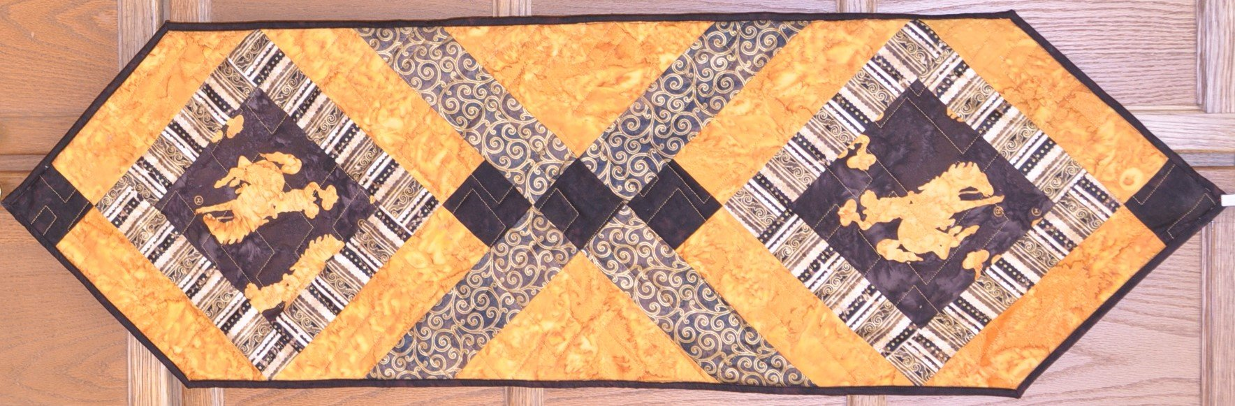Brown and Gold Table Runner Pattern