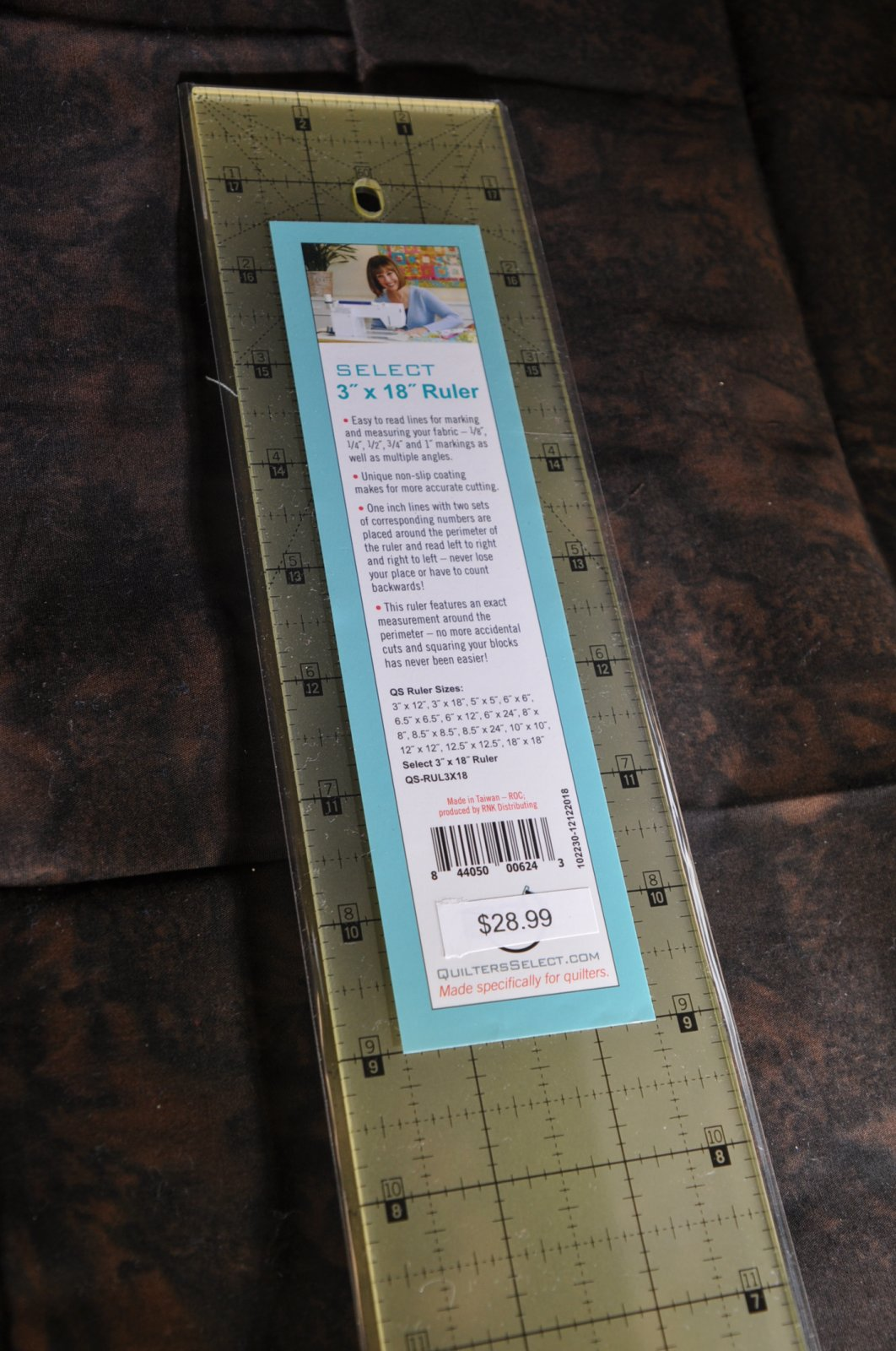Quilters Select Quilting Ruler 3 x 18