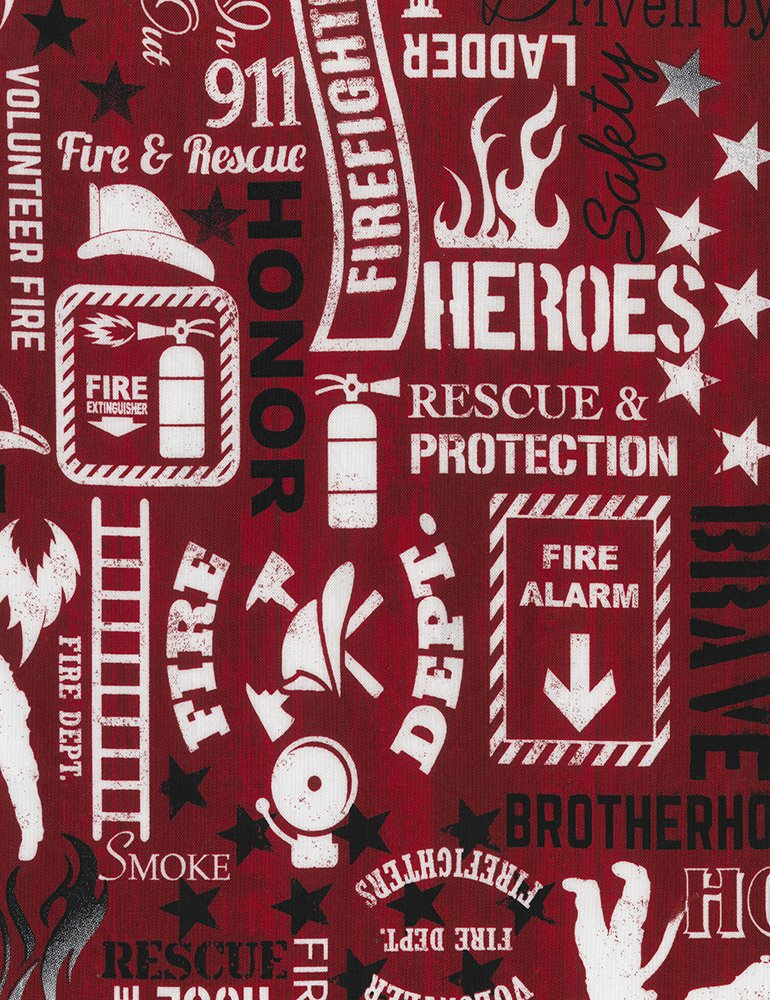 Firefighter Words - Fire-C5502-Red