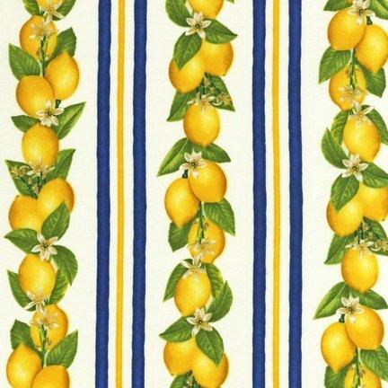 Fresh Fruit Lemon Stripe Navy - AJA-12066-9