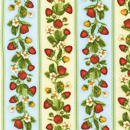 Fresh Fruit Strawberries Stripe Sky - AJA-12070-63