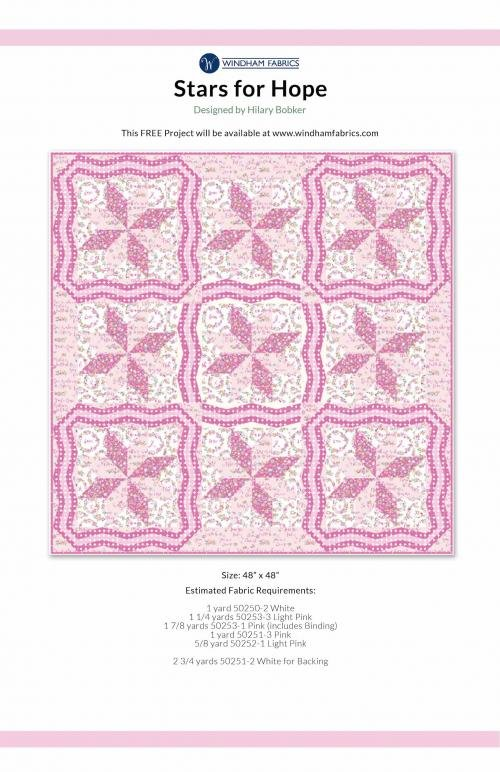 Stars for Hope 48 x 48 Quilt Kit