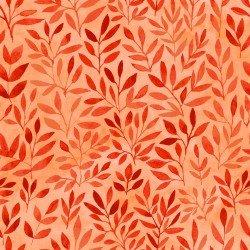 Floral Menagerie - Orange Leaves - IBFFLM4FMB-1