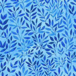 Floral Menagerie - Blue Leaves - IBFFLM4FMB-3