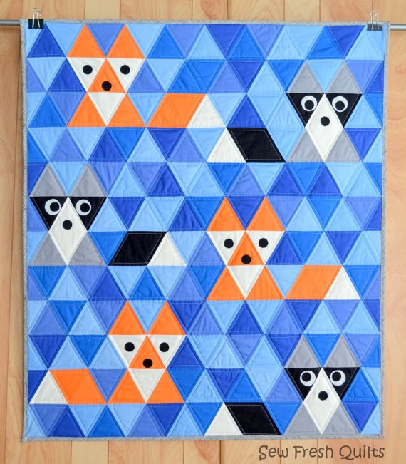 Fox & Friends 39 x 45 Quilt Kit
