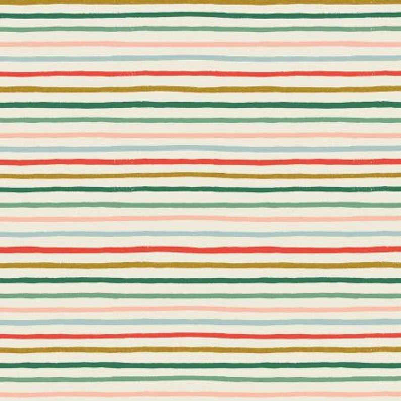 Holiday Classics RP609-MU1M Festive Stripe - Multi Metallic