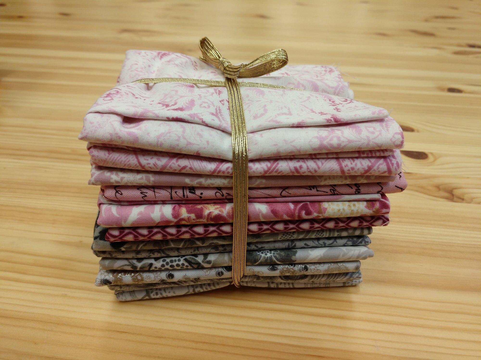 Fat Quarter Bundle Pinks and Greys