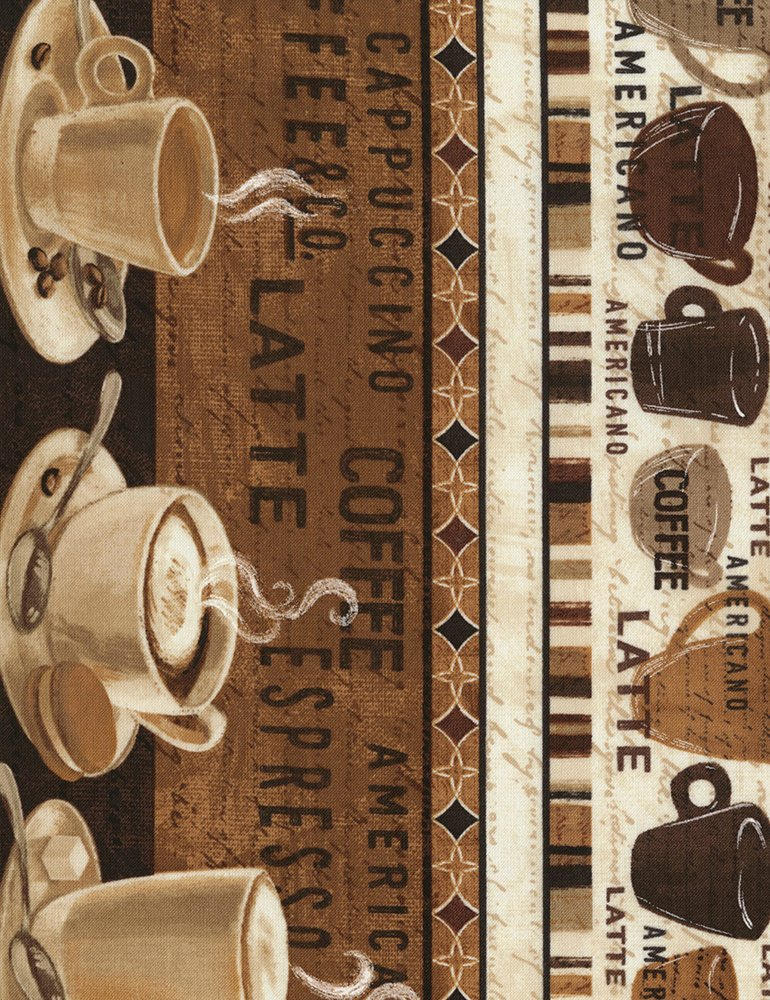 Cafe Au Lait - Coffee Stripe - Janelle-C5731-Coffee