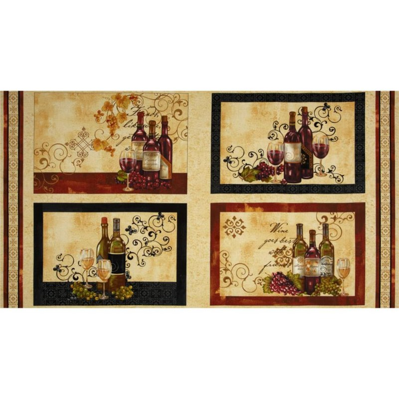 Wine a little you'll feel better! 2/3-yd Placemat Panel 42345-269