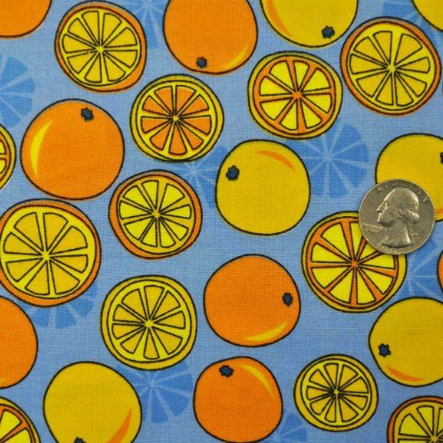 Citrus Fruit Oranges Blue - 46999 Orange