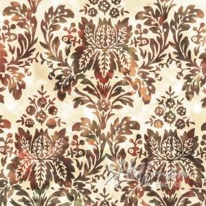 Bali Batiks - Floral Damask Amber - P2049-36