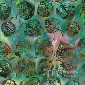 Bali Batiks - Leaves LeapFrog - P2056-429