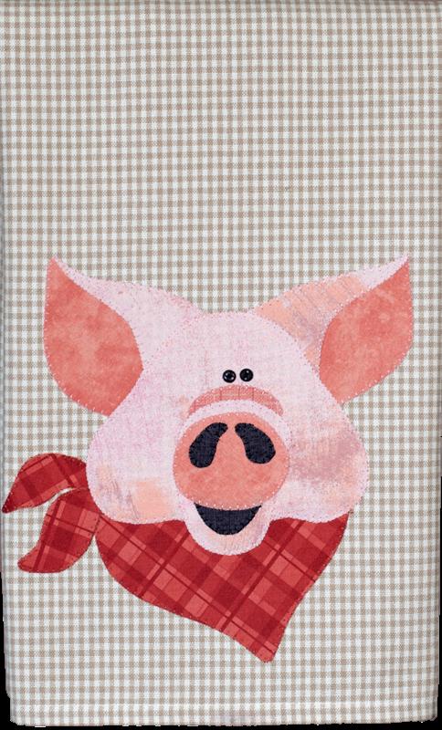 Pig Tea Towel patternlet