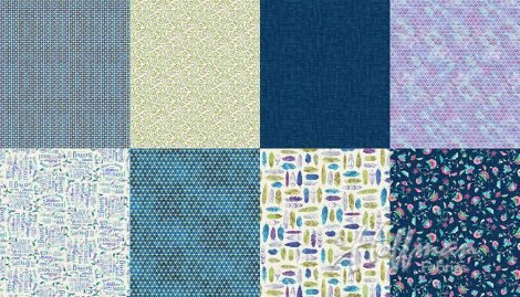 All A Twitter - Blueberry - P4392-87 - 2yd Panel