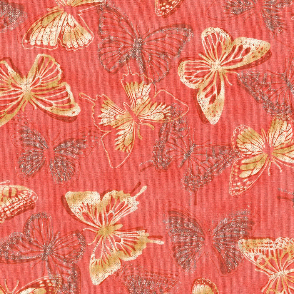 BUTTERFLY BOURREE-CORAL-3020-002