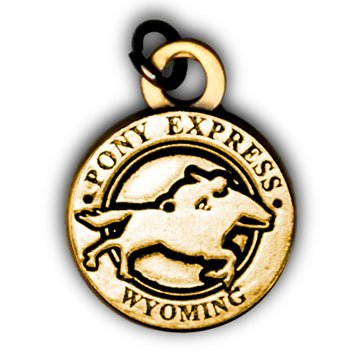 Pony Express Wyoming Charm
