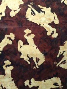 Bali Batik Wyoming Bucking Horse Saddle M2790-372